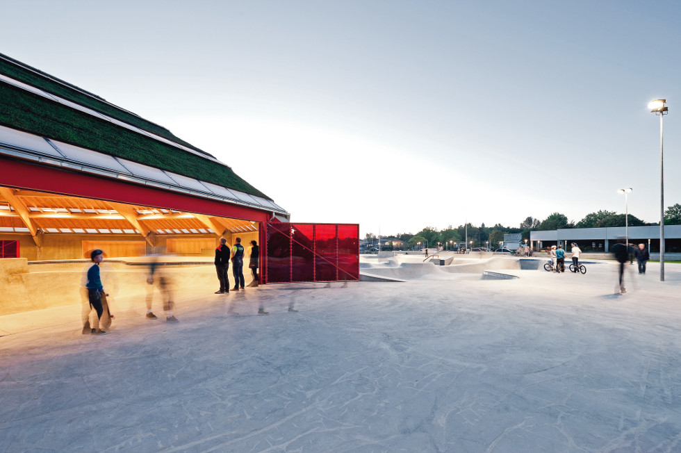 Skate park w Haderslev w Danii