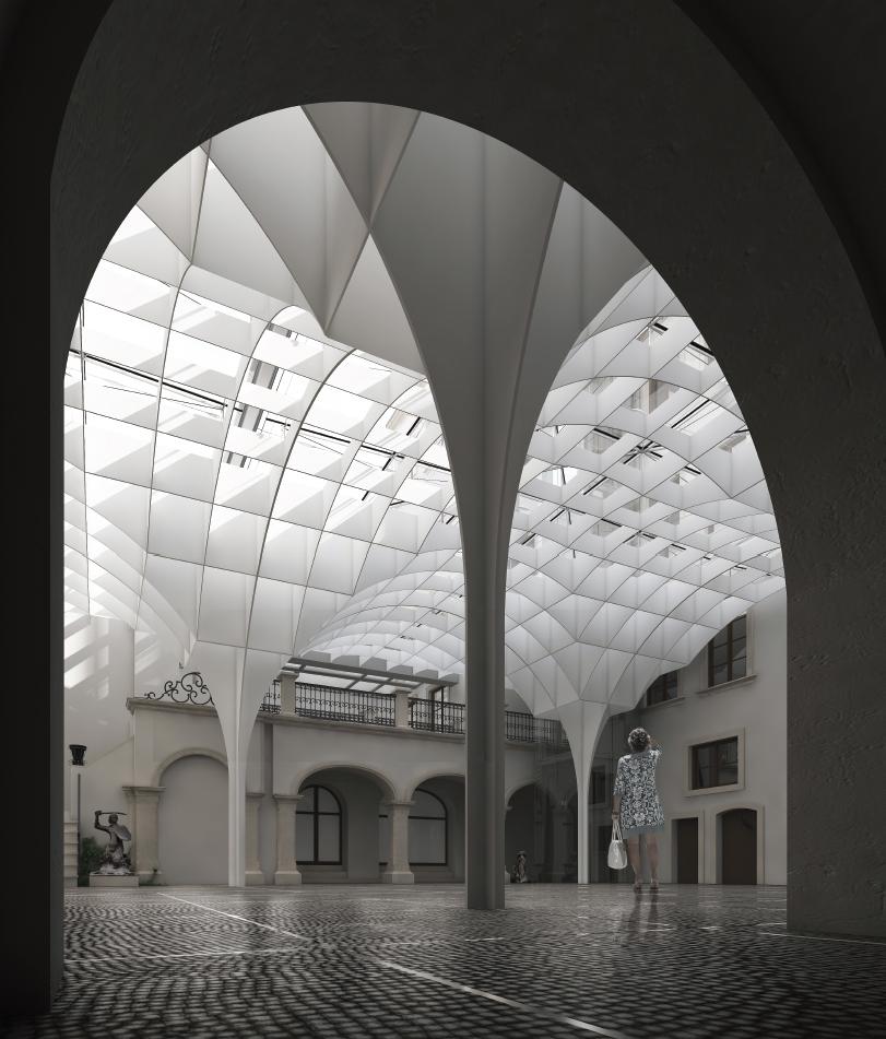 Zadaszenie Lapidarium Muzeum Warszawy