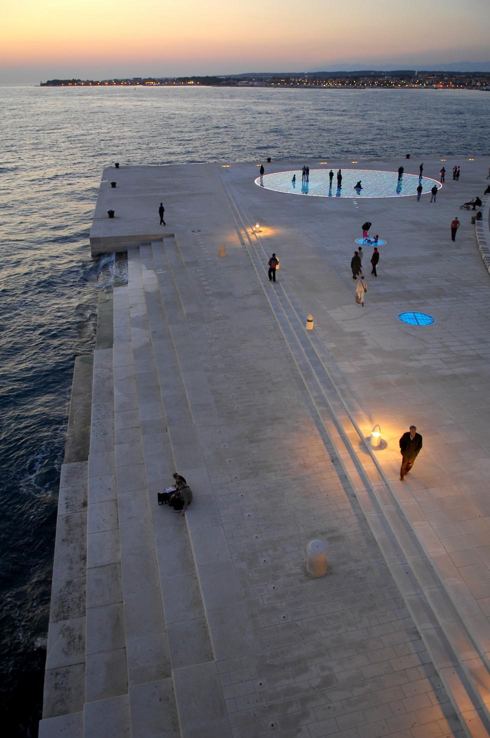 Morskie Organy, przestrzeń publiczna, Chorwacja