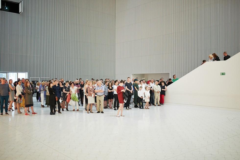 """Otwarcie wystawy """"Architektura muzyką przestrzeni"""" [ZDJĘCIA]"""