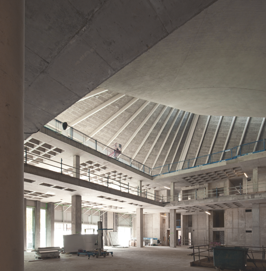 Wnętrze muzeum zostało całkowicie przebudowane według projektu Johna Pawsona