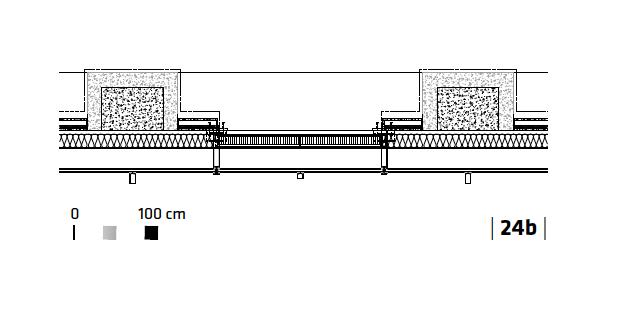 Detal fasady, przekrój poprzeczny