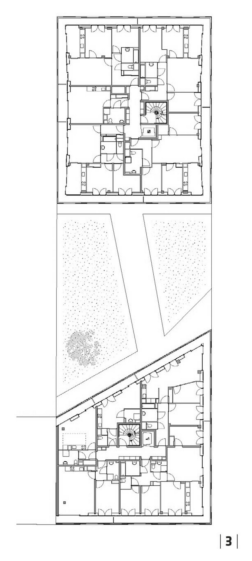 Zespół mieszkań socjalnych Montmartre Wintergarden Housing, Paryż. Piętro I