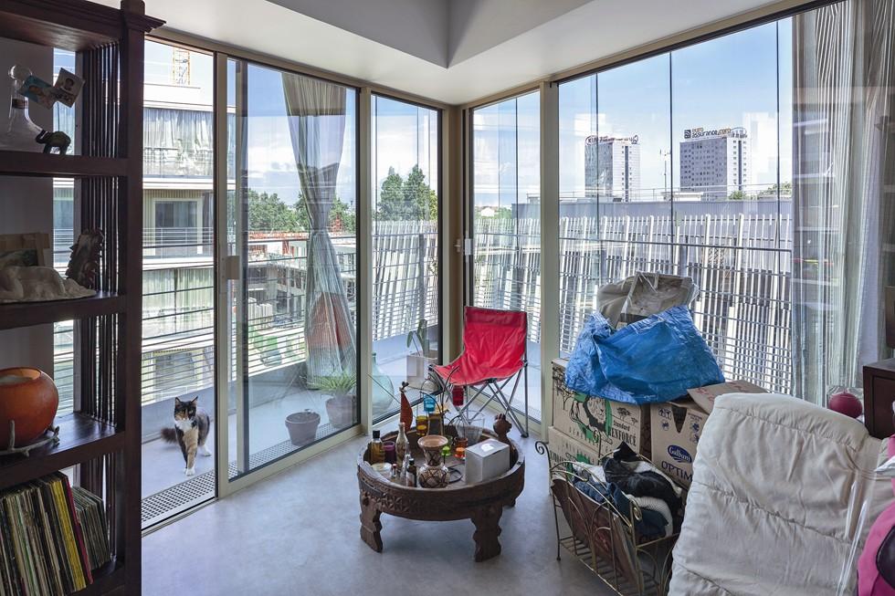 Montmartre Wintergarden Housing, wnętrze