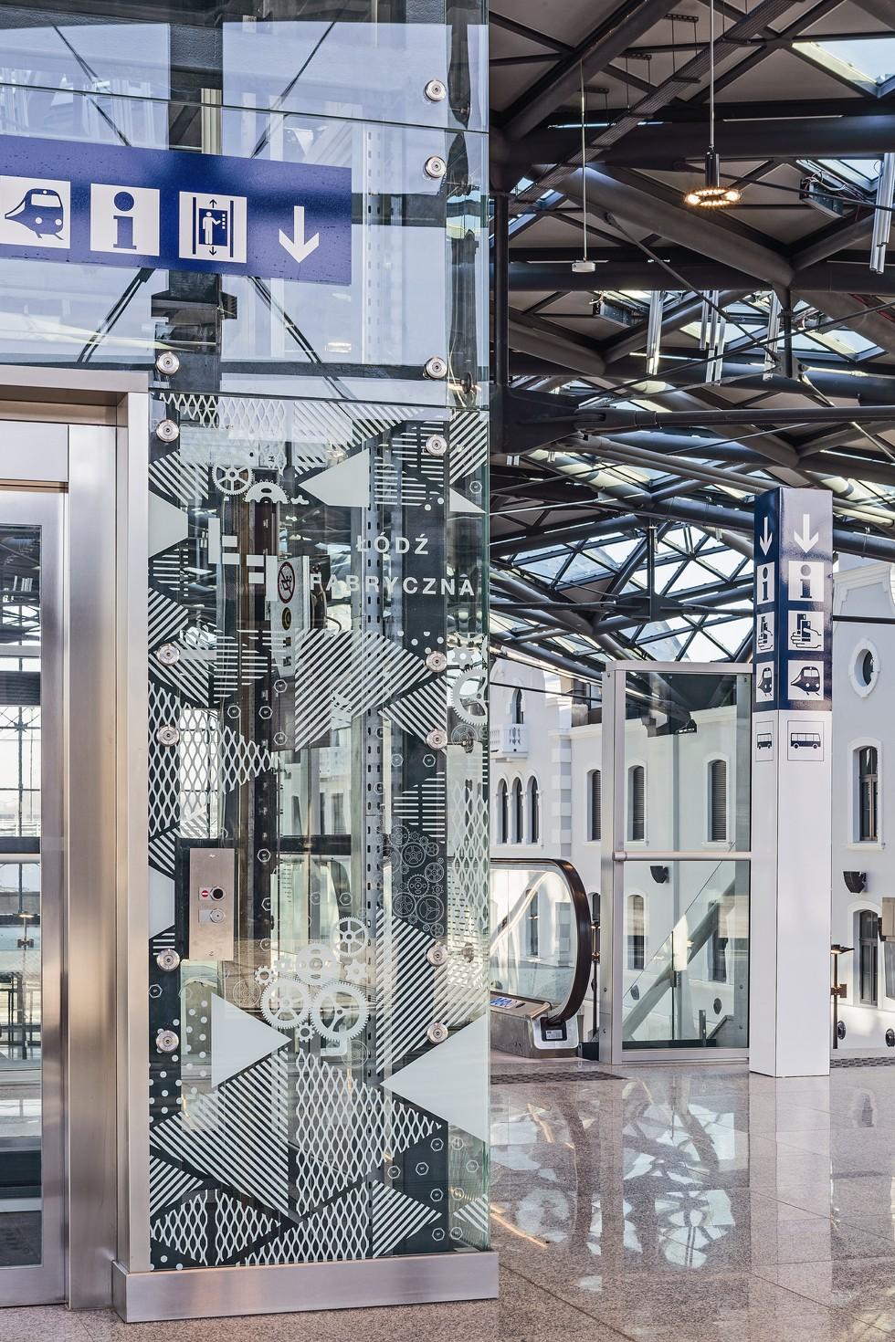 Łódź Fabryczna. Szklane ścianki