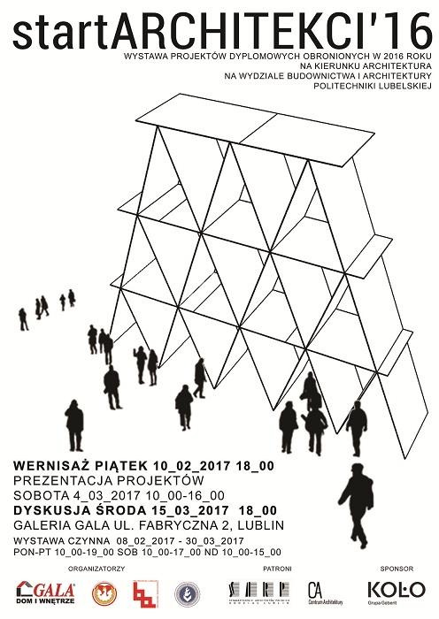 startARCHITEKCI'16 - wystawa prac dyplomowych studentów Politechniki Lubelskiej