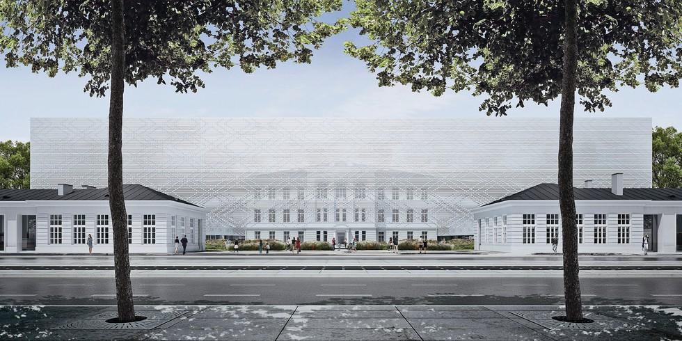 Sinfonia Varsovia Centrum, widok od ul. Grochowskiej