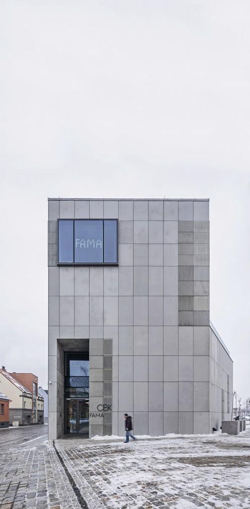 Centrum Kulturalno-Biblioteczne Fama. Widok od ulicy Krzywoustego