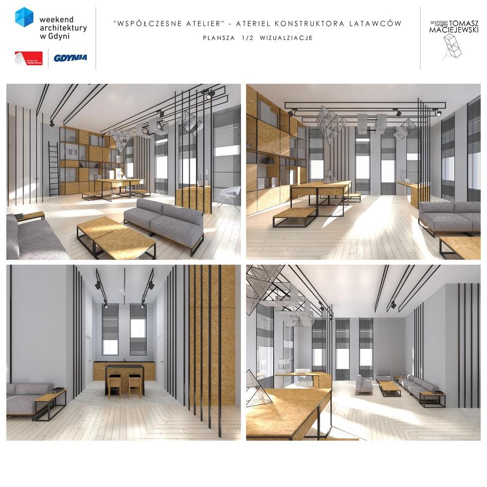 """Najlepsze projekty wnętrz inspirowanych modernizmem - wyniki konkursu """"Współczesne Atelier"""""""