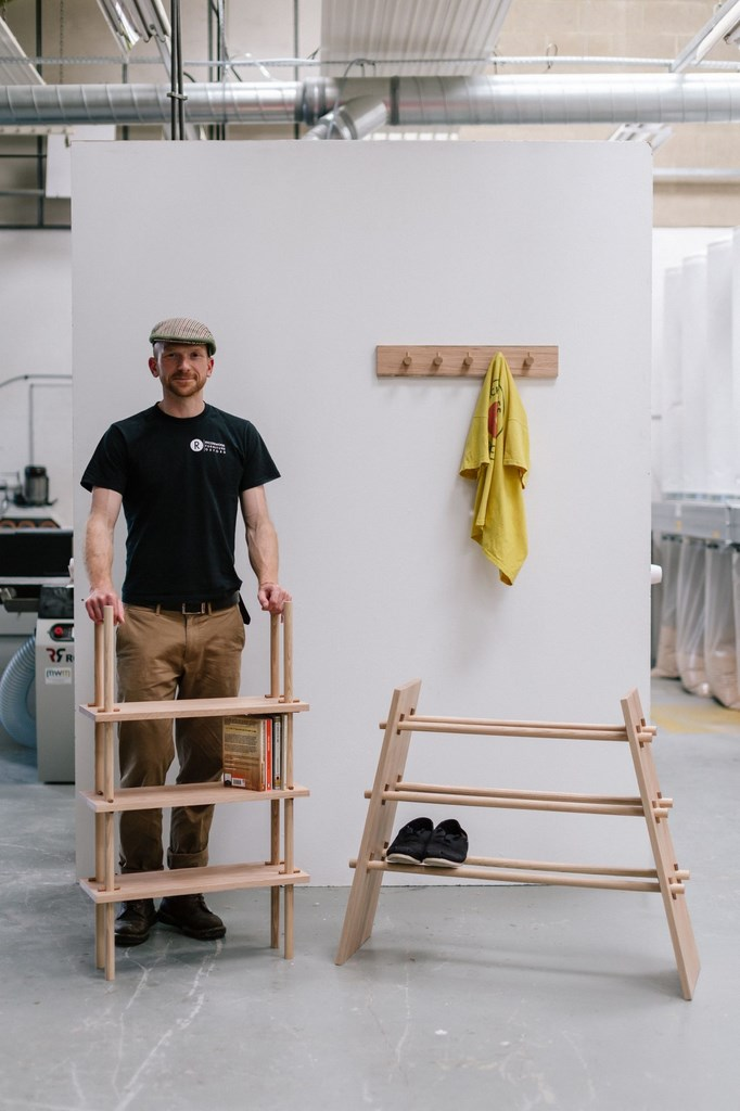 Prototypowe ekomeble projektu studentów Rycotewood Furniture Centre