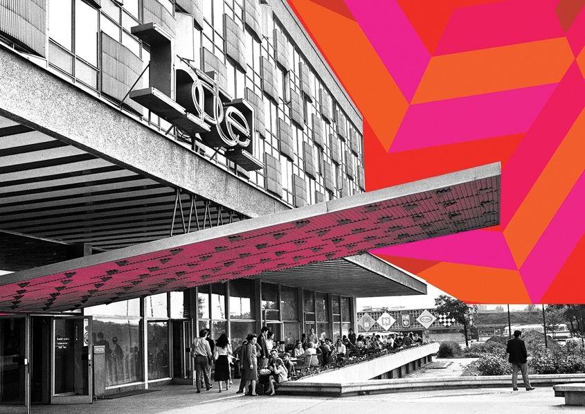 Hotel Cracovia i Kino Kijów na fotografiach