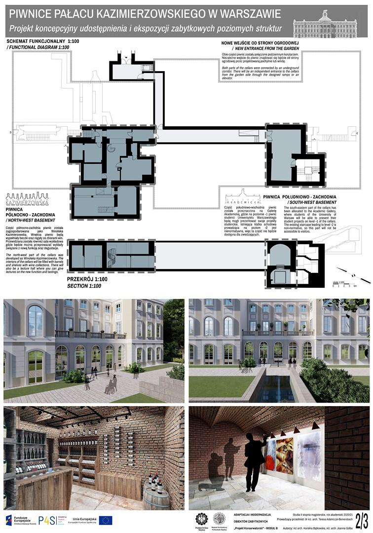 Piwnice Pałacu Kazimierzowskiego: wyniki konkursu dla studentów architektury Politechniki Śląskiej