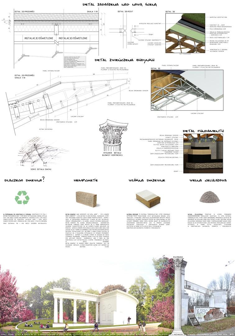 Liść Łódzki: modernizacja amfiteatru w parku Poniatowskiego w Łodzi