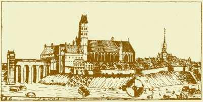 Panorama miasta wg H. Ogiera z ok. 1700 r., publikacja Miejskiego Serwisu Internetowego Miasta Kwidzyna