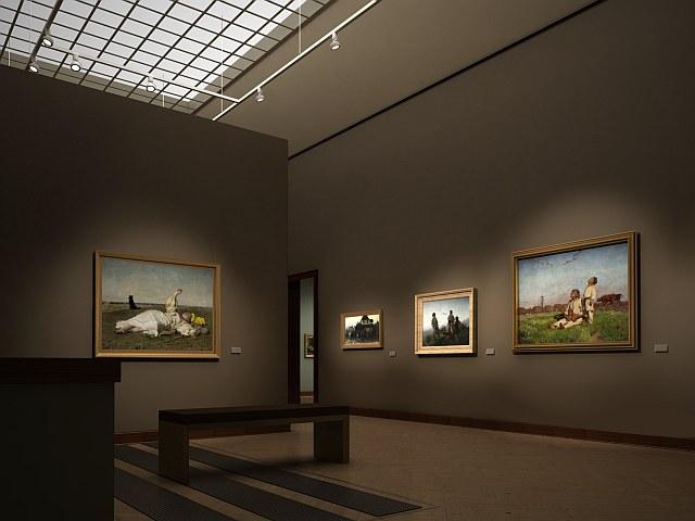 Galeria Sztuki XIX wieku, wizualizacj
