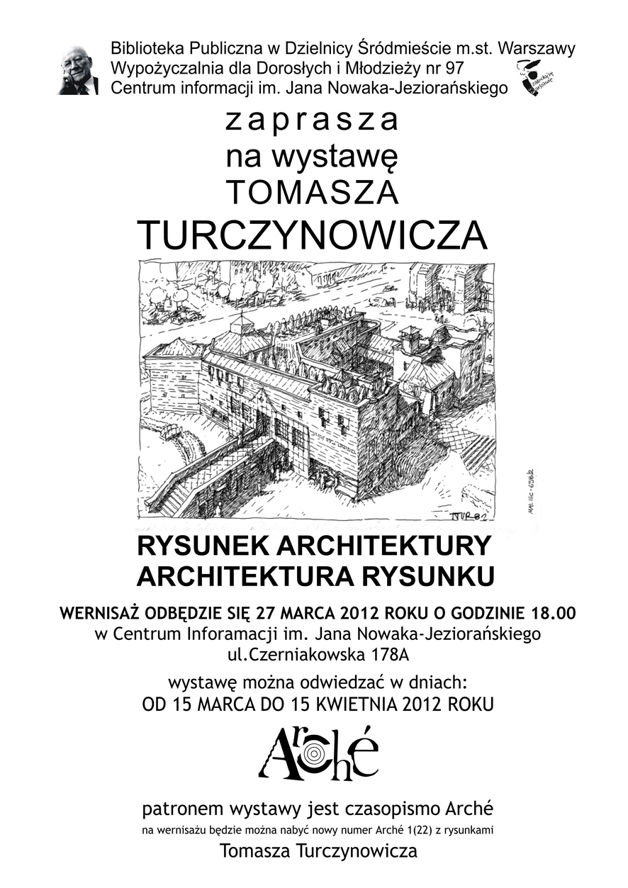 Plakat wystawy Tomasz Turczynowicza
