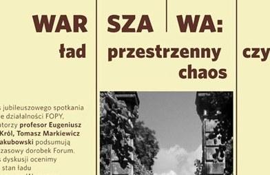 ład przestrzenny w Warszawie - debata