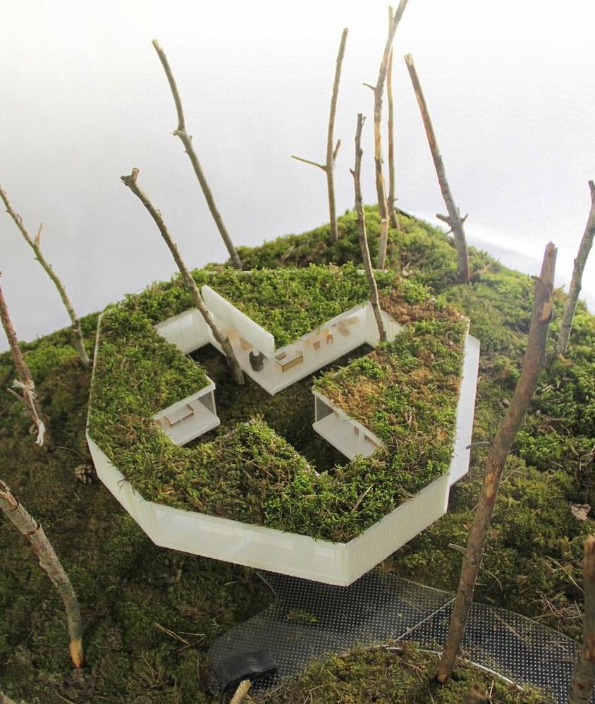 Dom w lesie - makieta