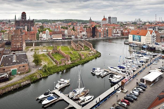 Muzeum Morskie - panorama Głównego Miasta w Gdańsku