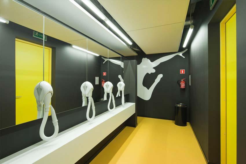 Nowe centrum sportowe w Wolsztynie - łazienka