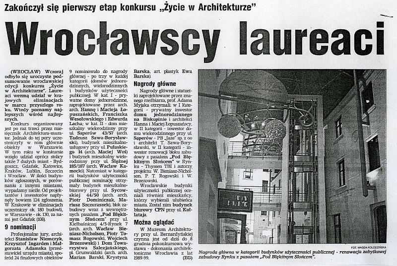 Wrocławscy laureaci