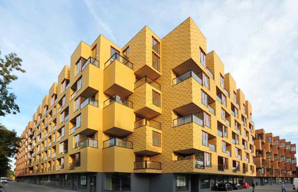 Wienerberger Brick Award 2013 - polska edycja: Corte Verona. Autorzy: Biuro Projektów Lewicki Łatak. Nagroda w kategorii Dom wielorodzinny