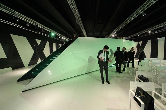 Pawilon ekspozycyjny płyt ceramicznych z fabryki GranitiFiandre. Projekt medusagroup