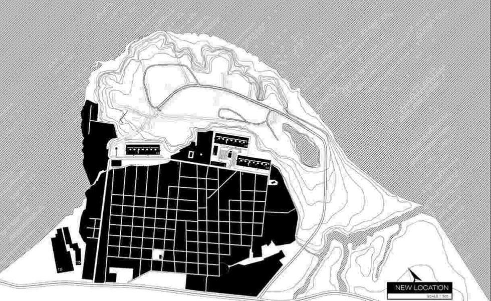 Bombaj, dzielnica Dharavi, planowana lokalizacja budynku zaprojektowanego przez H. Kowalskiego