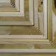 Instalacja wykonana została z klejonego drewna; na zdjęciu detal - panele z tulipanowca amerykanskiego klejone technologią warstwową. Fot. Thomas Etchells