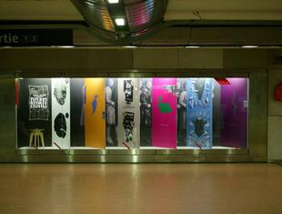 Wystawa studentów warszawskiej  ASP w metrze paryskim, linia nr 14
