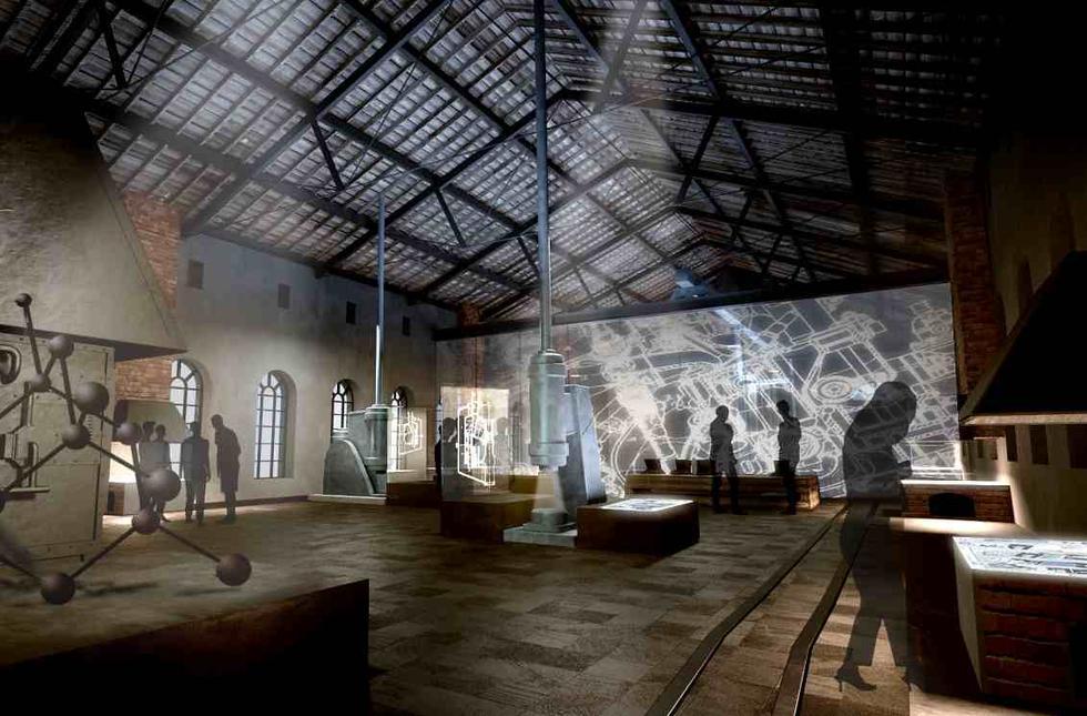 Sala wystawowa - wizualiazacja jednego z pomieszczeń centrum kultury i przemysłów kreatywnych, które powstać ma w Wałbrzychu. Fot. Nizio Design International