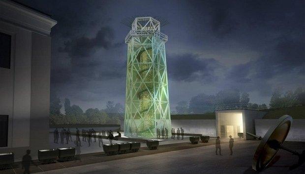 Teren kopalni Julia w Wałbrzychu po rewitalizacji  - wizualizacje projektu Nizio Design International