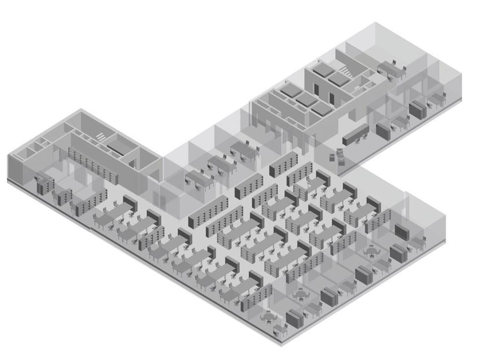 New Court, Londyn. Piętro z otwartą przesztrzenią biurową. Fot.  ©OMA materiały prasowe Mies van der Rohe Award 2013