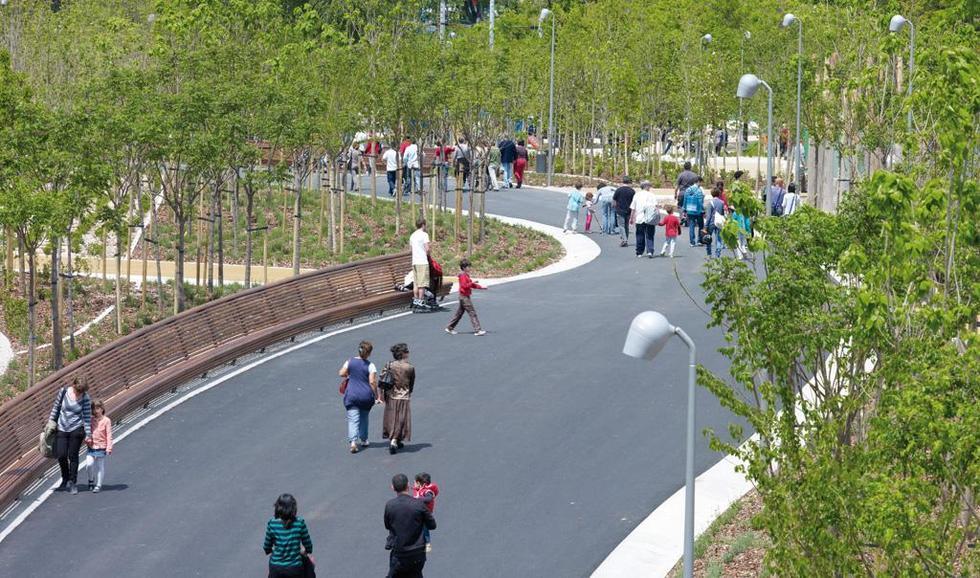 Arganzuela Park - część założenia Madrid Río; Madryt. Fot. ©Jeroen Musch, Mies van der Rohe Award 2013