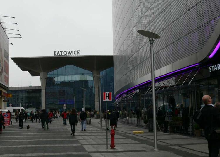 Galeria Katowicka i dworzec kolejowy w Katowicach, wrzesień 2013