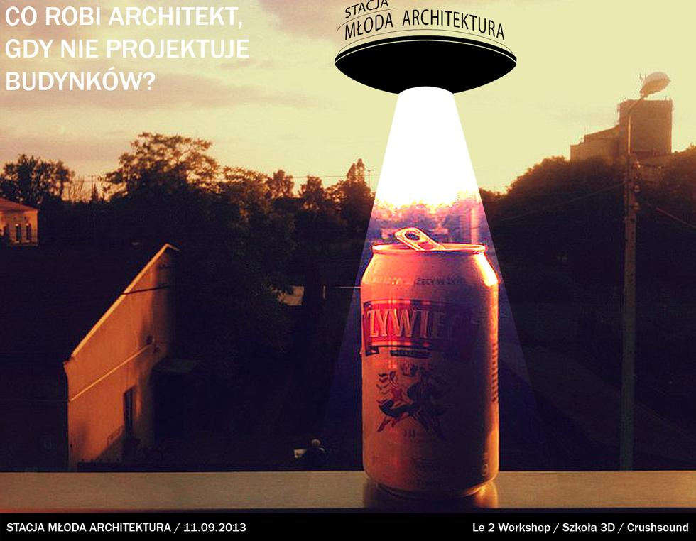 Przedostatnie spotkanie z cyklu Młoda Architektura: prezentacja Jędrzeja Lewandowskiego