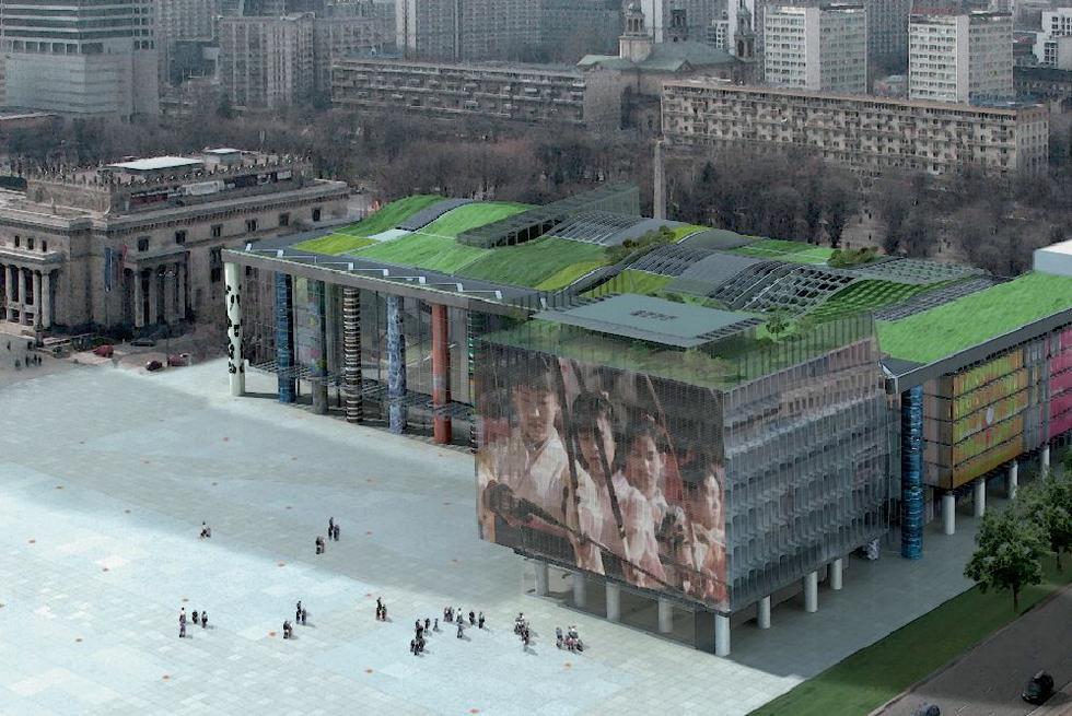 II nagroda w konkursie architektonicznym na projekt Muzeum Sztuki Nowoczesnej. Autorzy: Szaroszyk & Rycerski Architekci
