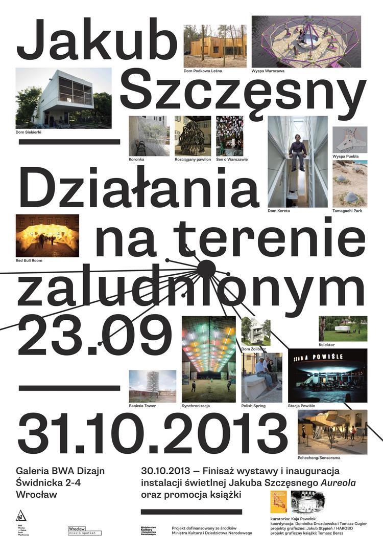 Jakub Szczęsny. Działania na terenie zaludnionym, plakat wystawy