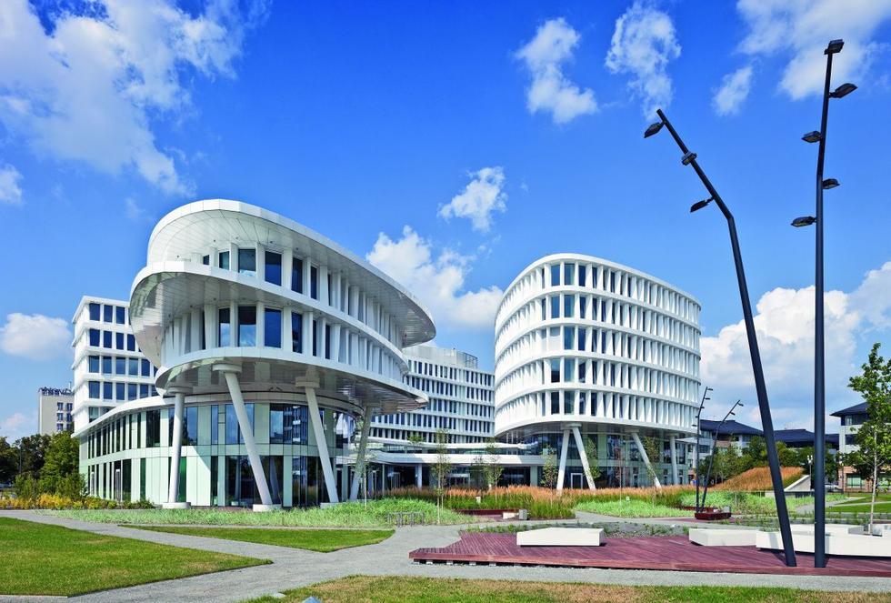 Business Garden, budynek hotelowo - biurowy, widok od południowego wschodu