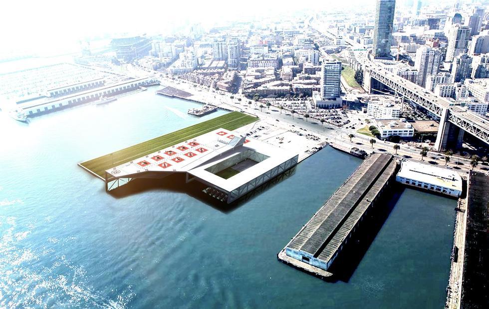 Projekt siedziby straży pożarnej w San Francisco (San Francisco Fire Department Headquarters); nowy obiekt miałby powstać na portowym pirsie