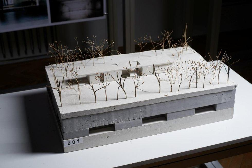 II nagroda w konkursie na projekt Ogrodu XXI wieku dla Łazienek Królewskich w Warszawie; makieta projektu WXCA