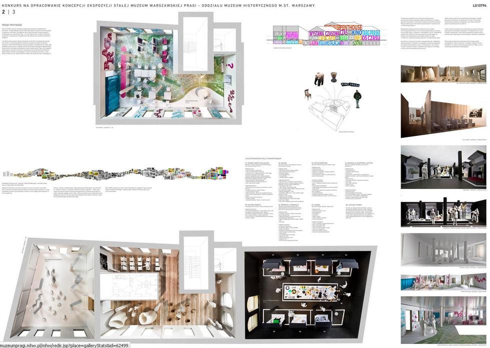 Wystawa stała w Muzeum Warszawskiej Pragi. Koncepcja: 137kilo Architekci – Projektanci Jan Sukiennik. Plansza konkursowa 2