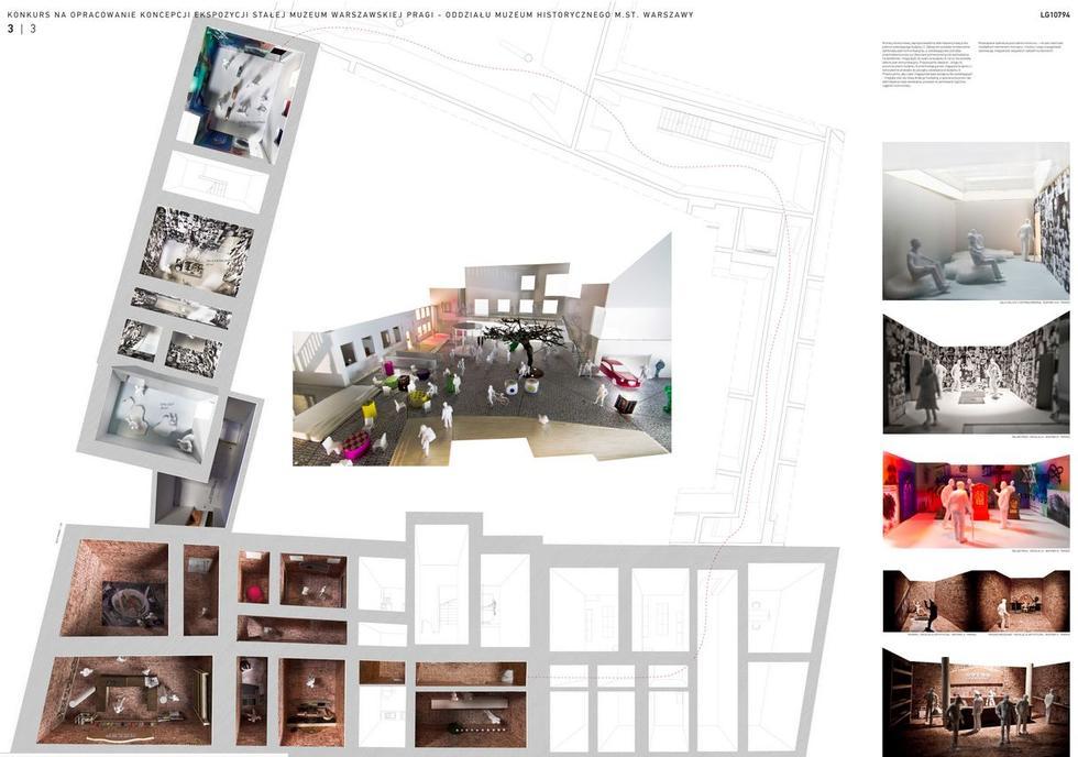 Wystawa stała w Muzeum Warszawskiej Pragi. Koncepcja: 137kilo Architekci – Projektanci Jan Sukiennik. Plansza konkursowa 3