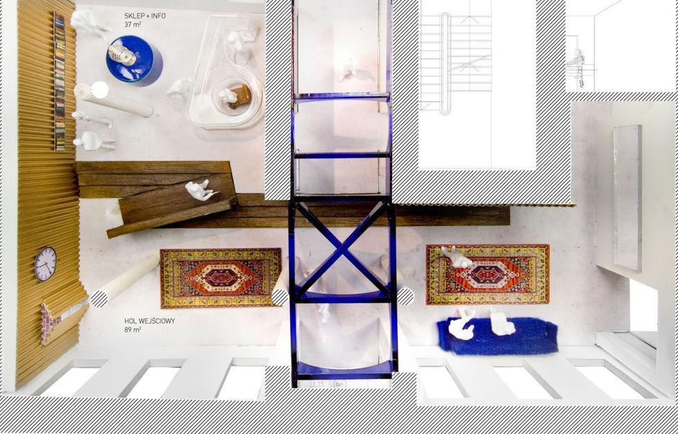137kilo Architekci – Projektanci Jan Sukiennik; punkt informacyjny, Muzeum Warszawskiej Pragi