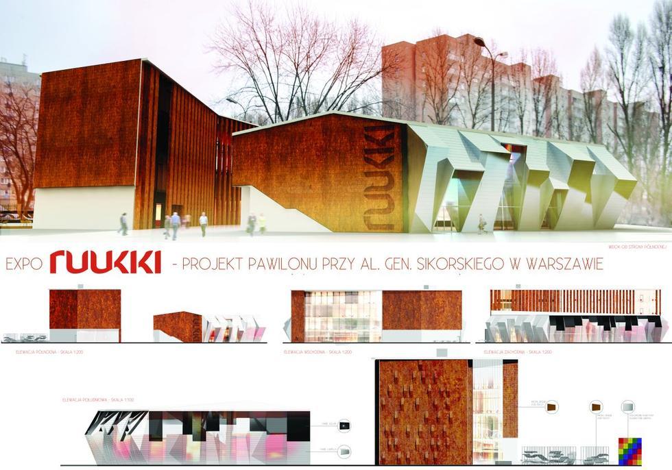 Energooszczędny pawilon EXPO Ruukki. III nagroda