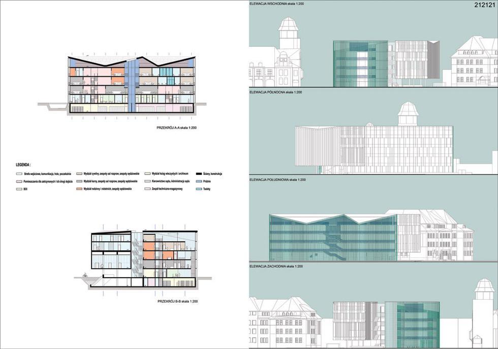 Projekt konkursowy Sądu Rejonowego w Nysie, Atelier Loegler