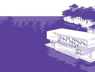 """Konkurs architektoniczny """"BARGEWORK - BIURO NA WODZIE"""""""