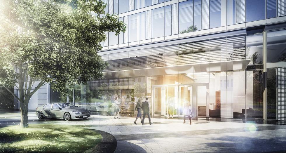 Nowy biurowiec na warszawskiej Woli: Prime Corporate Center. Parter
