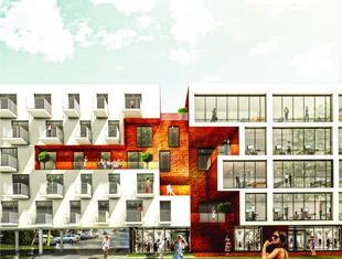 """WWAA: projekt budynku mieszkalnego """"Kamienica"""" w warszawskim Soho Factory"""