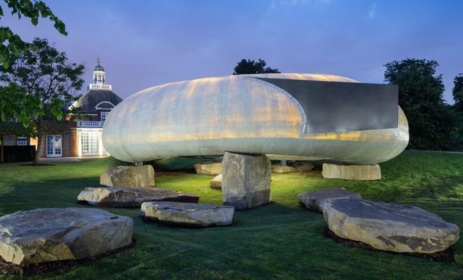 Współczesna architektura w ogrodzie - pawilon letni Serpentine Gallery w Londynie
